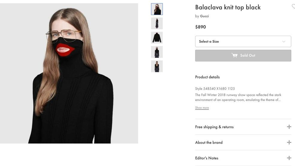 Gucci Pulls Blackface Sweater From Stores After Complaints Kdnl